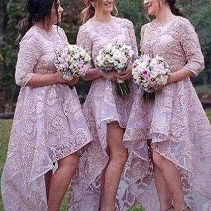 Lavender Long Sleeve Bridesmaid Dre..