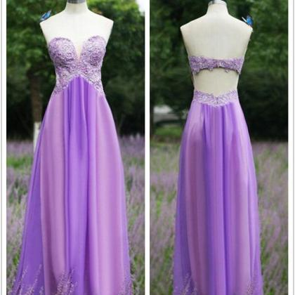 Backless Prom Dress,Sweetheart Prom..