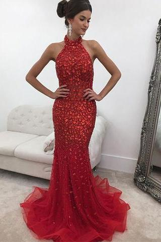 Beaded Prom Dress,Mermaid Evening Dress,Fashion Prom Dress,Sexy Party Dress,Custom Made Evening DressTw