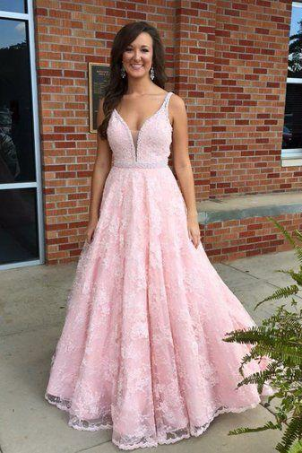 Pink Prom Dress,Lace Evening Dress,Fashion Prom Dress,Sexy Party Dress,Custom Made Evening DressTw