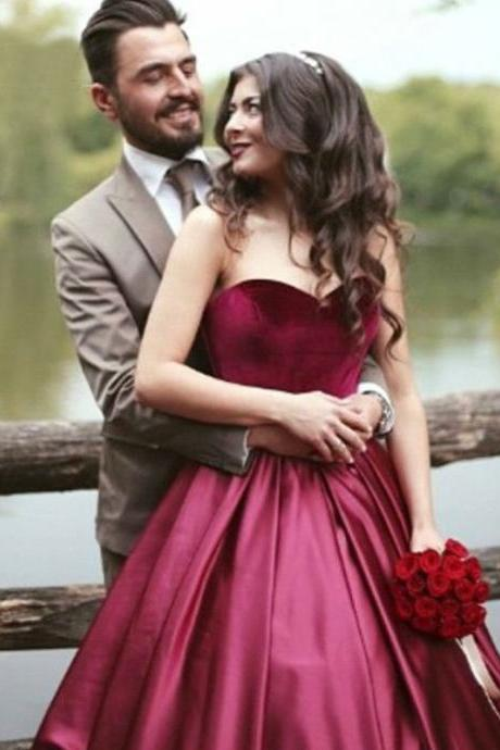 Modest Quinceanera Dress,Burgundy Prom Dress,Fashion Prom Dress,Sexy Party Dress,Custom Made Evening Dress