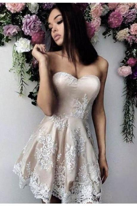 Sweetheart Prom Dress,Lace Prom Dress,Fashion Homecoming Dress,Sexy Party Dress,Custom Made Evening Dress