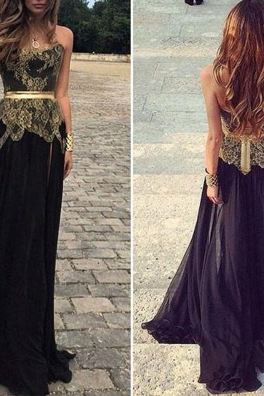 Black Prom Dress,Sweetheart Evening Dress,Fashion Prom Dress,Sexy Party Dress,Custom Made Evening Dress