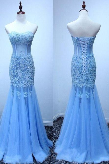 Lace Prom Dress,Mermaid Evening Dress,Fashion Prom Dress,Sexy Party Dress,Custom Made Evening Dress