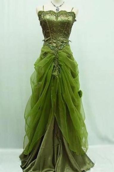 Lace Prom Dress,Green Evening Dress,Fashion Prom Dress,Sexy Party Dress,Custom Made Evening Dress