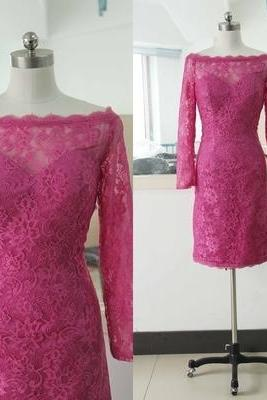 Lace Prom Dress,Long Sleeve Prom Dress,Fashion Homecoming Dress,Sexy Party Dress, New Style Evening Dress