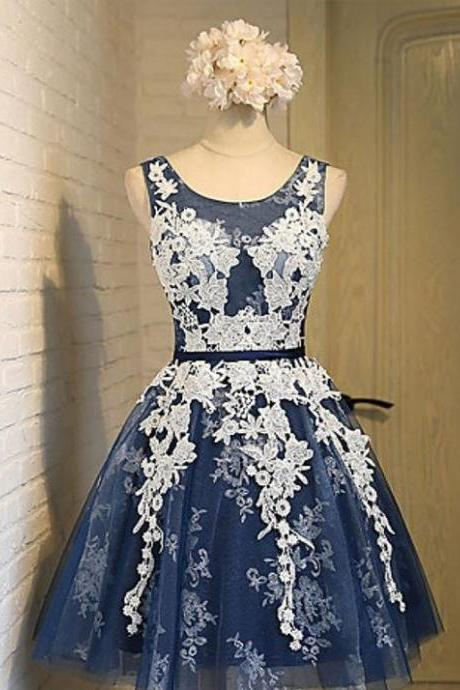 Lace Up Homecoming Dresses,Cute Dresses,Short Homecoming Dresses,A-line Lace Tulle Homecoming Dresses