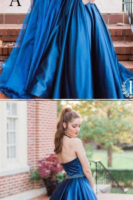 Charming Halter Prom Dress, Royal Blue Backless Party Dress, Long Evening Dress (Picture Dress B) 51559