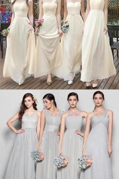 Mismatched Different Color and Style Beautiful Bridesmaid Dress 52269