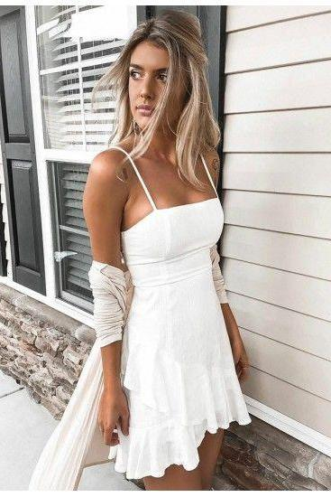 Customized Glorious Homecoming Dress White, Homecoming Dress A-Line