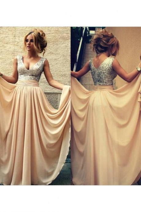 Sparkly Prom Dress,Deep V Neck Party Dress,Sequins Prom Dress, Split Prom Dress, Satin Prom Dress,Floor Length Prom Dress, Cheap Prom Dress, 2017evening Dress
