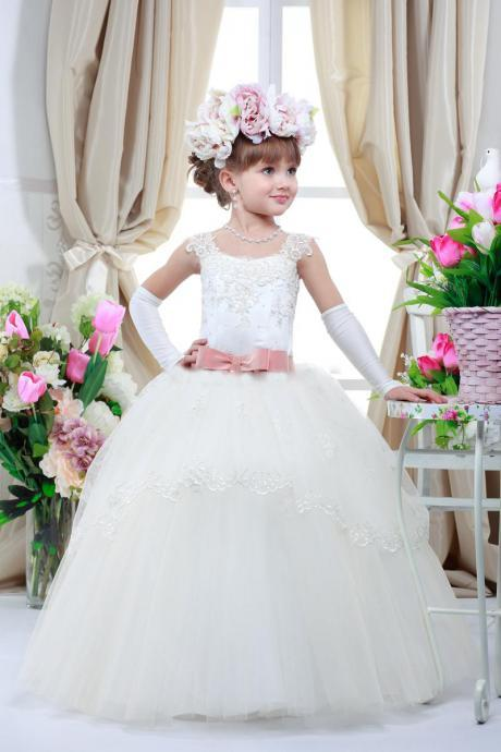 Flower Girl Ball Gown, Formal Girl Dresses, Fashion Bridesmaid Dress,New Style Evening Dress