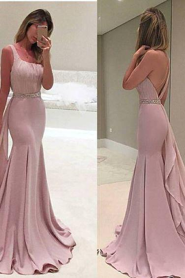 One Shoulder Prom Dress,Mermaid Prom Dress,Backless Prom Dress,Fashion Prom Dress,Sexy Party Dress, 2017 New Evening Dress
