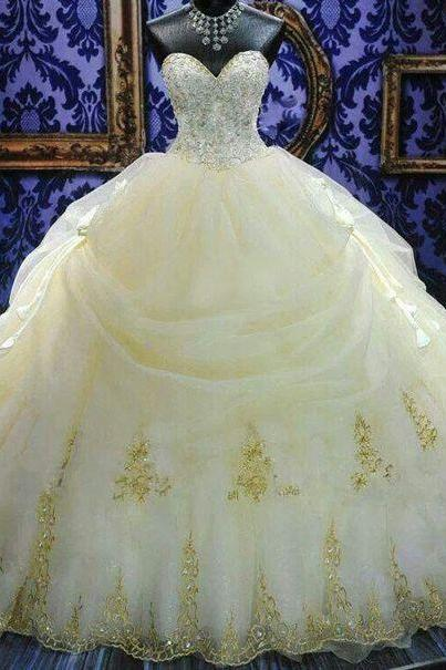 Gorgeous Quinceanera Dress,Sweetheart Ball Gown,Beaded Prom Dress,Fashion Prom Dress,Sexy Party Dress, New Style Evening Dress