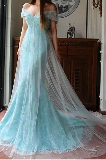 Modest Prom Dress,Off The Shoulder Prom Dress,Illusion Prom Dress,Fashion Bridal Dress,Sexy Party Dress, New Style Evening Dress