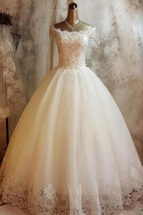 Modest Ball Gown,Beaded Prom Dress,Lace Prom Dress,Fashion Bridal Dress,Sexy Party Dress, New Style Evening Dress