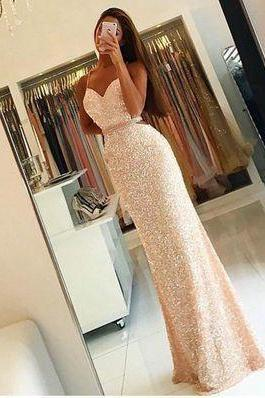 Spaghetti Prom Dress,Maxi Prom Dress,Sequins Prom Dress,Fashion Prom Dress,Sexy Party Dress, New Style Evening Dress