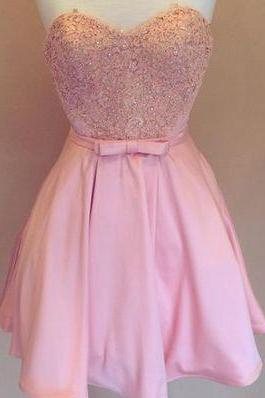 Sweetheart Prom Dress,Beaded Prom Dress,Pink Prom Dress,Fashion Homecoming Dress,Sexy Party Dress, New Style Evening Dress