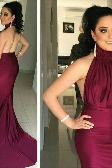 Halter Prom Dress,Mermaid Prom Dress,Backless Prom Dress,Fashion Prom Dress,Sexy Party Dress, New Style Evening Dress