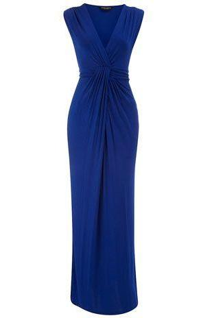 Royal Blue Prom Dress,Pleated Prom Dress,Maxi Prom Dress,Fashion Prom Dress,Sexy Party Dress, New Style Evening Dress
