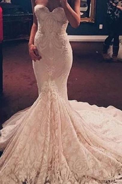 Sweetheart Prom Dress,Mermaid Prom Dress,Lace Prom Dress,Fashion Prom Dress,Sexy Party Dress, New Style Evening Dress