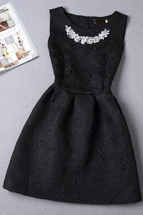 Beaded Prom Dress,Black Prom Dress,Mini Prom Dress,Fashion Homecoming Dress,Sexy Party Dress, New Style Evening Dress