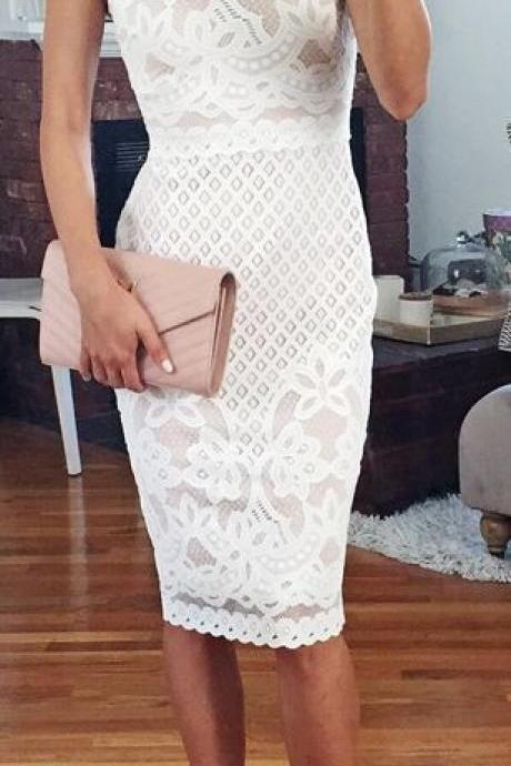 Halter Prom Dress,White Prom Dress,Pencil Prom Dress,Fashion Homecoming Dress,Sexy Party Dress, New Style Evening Dress