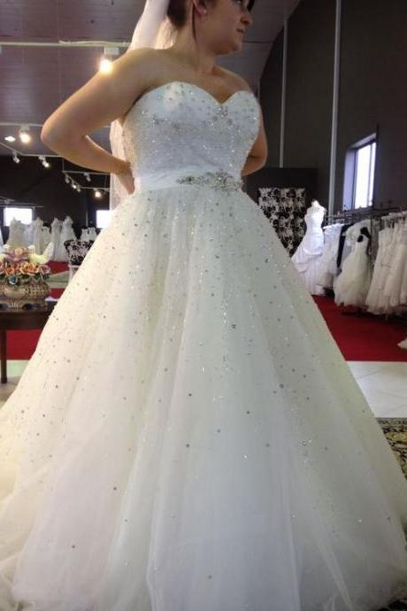 Plus Size Prom Dress,Sweetheart Prom Dress,Beaded Prom Dress,Fashion Bridal Dress,Sexy Party Dress, New Style Evening Dress