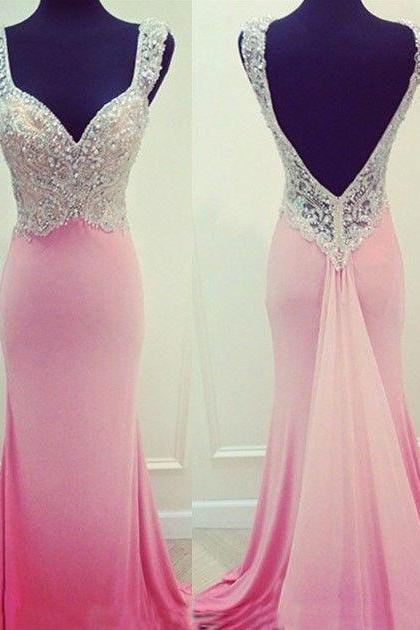 Backless Prom Dress,Mermaid Prom Dress,Beaded Prom Dress,Fashion Prom Dress,Sexy Party Dress, New Style Evening Dress
