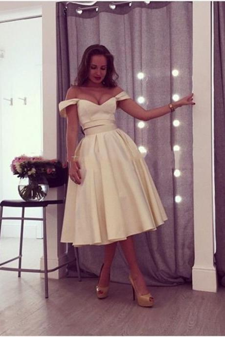 Charming Prom Dress,Two Pieces Prom Dress,Off The Shoulder Prom Dress,Fashion Homecoming Dress,Sexy Party Dress, New Style Evening Dress