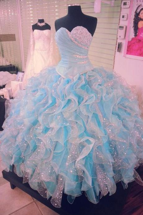 Modest Quinceanera Dress,Sweetheart Ball Gown,Beaded Prom Dress,Fashion Prom Dress,Sexy Party Dress, New Style Evening Dress