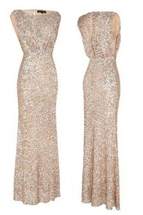 Elegant Prom Dress,Sequins Prom Dress,Bateau Prom Dress,Fashion Prom Dress,Sexy Party Dress, New Style Evening Dress