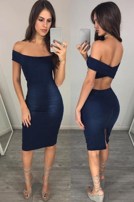Backless Prom Dress,Off The Shoulder Prom Dress,Pencil Prom Dress,Fashion Homecoming Dress,Sexy Party Dress, New Style Evening Dress