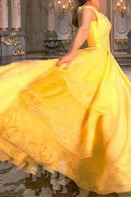 Modest Quinceanera Dress,Yellow Ball Gown,Layered Prom Dress,Fashion Prom Dress,Sexy Party Dress, New Style Evening Dress