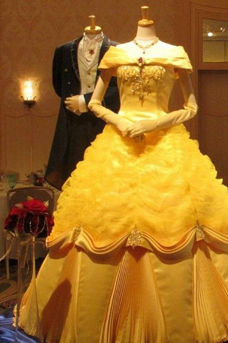 Modest Quinceanera Dress,Yellow Ball Gown,Beaded Prom Dress,Fashion Prom Dress,Sexy Party Dress, New Style Evening Dress