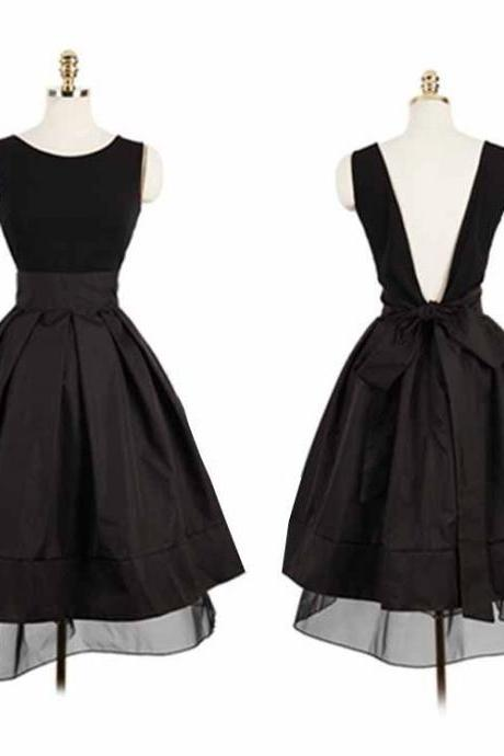Black Prom Dress,Backless Prom Dress,Mini Prom Dress,Fashion Homecoming Dress,Sexy Party Dress, New Style Evening Dress