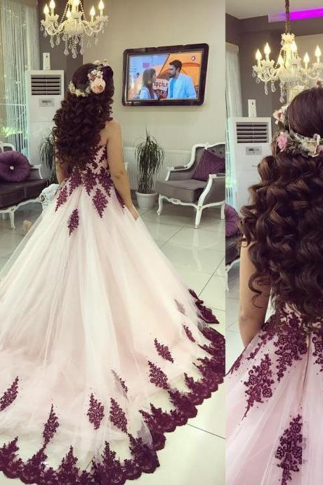 Modest Quinceanera Dress,Sweetheart Ball Gown,Applique Prom Dress,Fashion Prom Dress,Sexy Party Dress, New Style Evening Dress