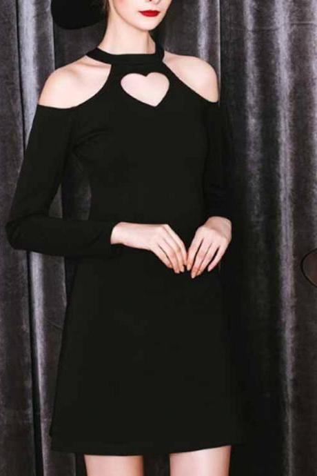 Long Sleeve Prom Dress,Pencil Prom Dress,Black Prom Dress,Fashion Homecoming Dress,Sexy Party Dress, New Style Evening Dress