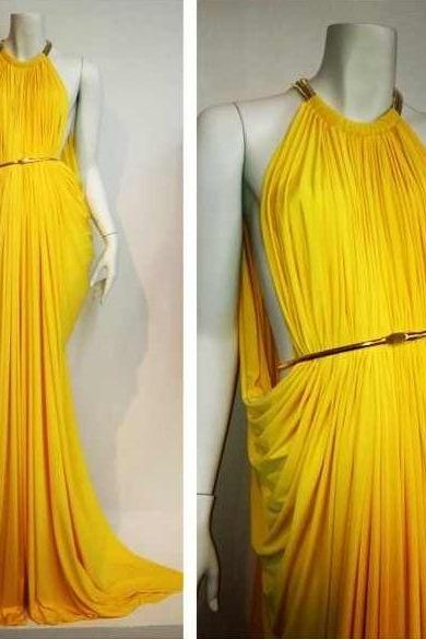 Halter Prom Dress,Pleated Prom Dress,Fashion Prom Dress,Sexy Party Dress, New Style Evening Dress
