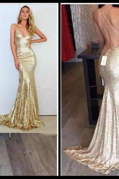 Mermaid Prom Dress,Backless Prom Dress,Spaghetti Prom Dress,Fashion Prom Dress,Sexy Party Dress, New Style Evening Dress