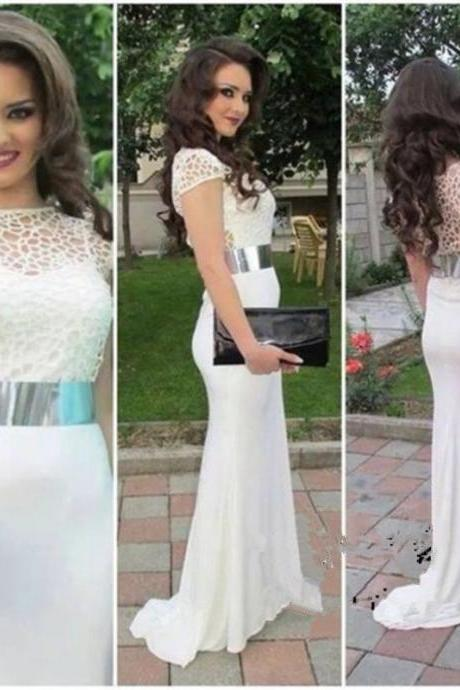 Charming Prom Dress,Mermaid Prom Dress,Sort Sleeve Prom Dress,Fashion Prom Dress,Sexy Party Dress, New Style Evening Dress