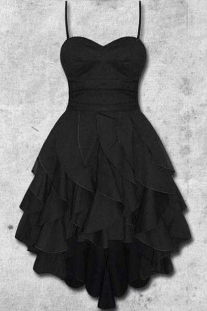 Charming Prom Dress,Black Prom Dress,Spaghetti Prom Dress,Fashion Homecoming Dress,Sexy Party Dress, New Style Evening Dress