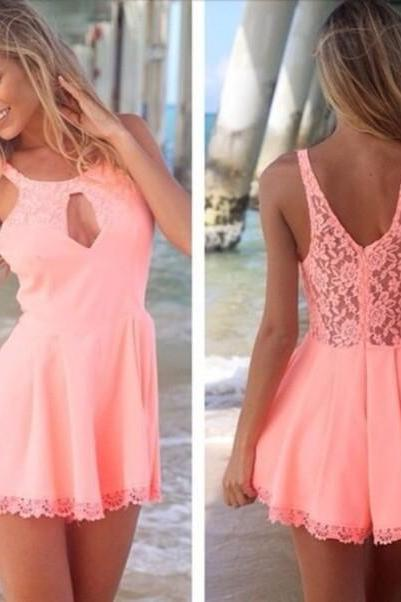 Charming Prom Dress,Lace Prom Dress,Mini Prom Dress,Fashion Homecoming Dress,Sexy Party Dress, New Style Evening Dress