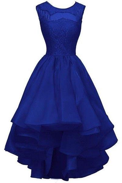 Charming Prom Dress,Lace Prom Dress,Royal Blue Prom Dress,Fashion Prom Dress,Sexy Party Dress, New Style Evening Dress