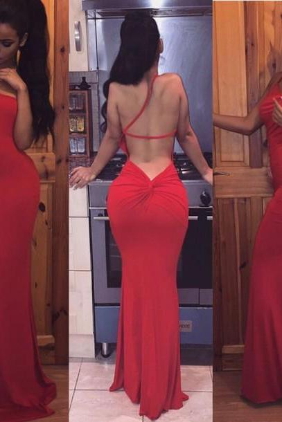 Backless Prom Dress,Mermaid Prom Dress,Red Prom Dress,Fashion Prom Dress,Sexy Party Dress, New Style Evening Dress