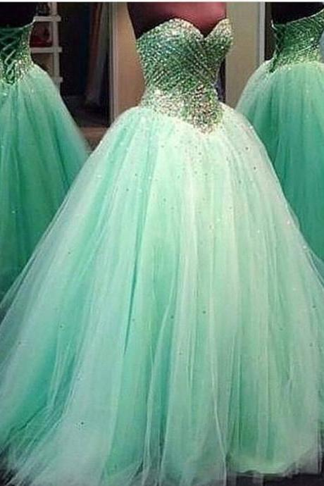 Modest Quinceanera Dress,Beaded Ball Gown,Sweetheart Prom Dress,Fashion Prom Dress,Sexy Party Dress, New Style Evening Dress