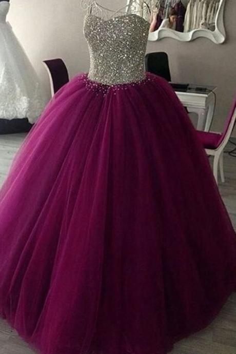 Modest Quinceanera Dress,Sweetheart Ball Gown,Illusion Prom Dress,Fashion Prom Dress,Sexy Party Dress, New Style Evening Dress