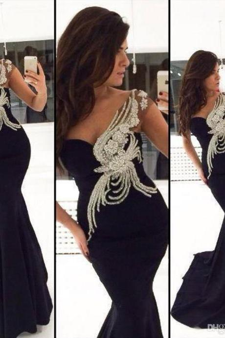 Beaded Prom Dress,Mermaid Prom Dress,Fashion Prom Dress,Sexy Party Dress, New Style Evening Dress