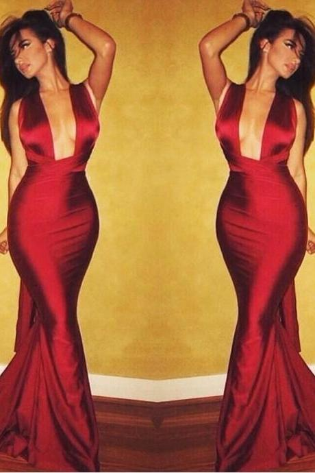 Red Prom Dress,Mermaid Prom Dress,Fashion Prom Dress,Sexy Party Dress, New Style Evening Dress