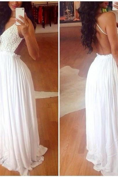 Backless Prom Dress,Lace Prom Dress,Fashion Prom Dress,Sexy Party Dress, New Style Evening Dress